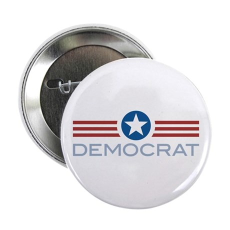 "Star Stripes Democrat 2.25"" Button (100 pack)"