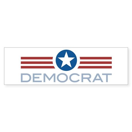 Star Stripes Democrat Bumper Sticker