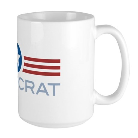 Star Stripes Democrat Large Mug
