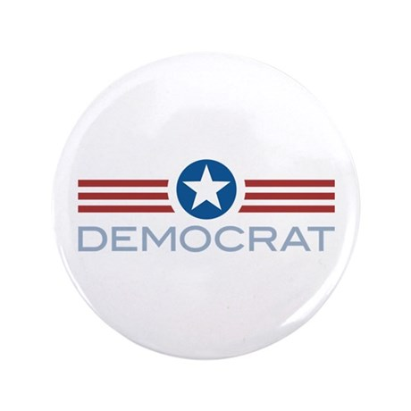 "Star Stripes Democrat 3.5"" Button"