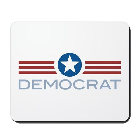 Star Stripes Democrat Mousepad