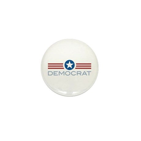 Star Stripes Democrat Mini Button