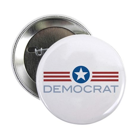 "Star Stripes Democrat 2.25"" Button"