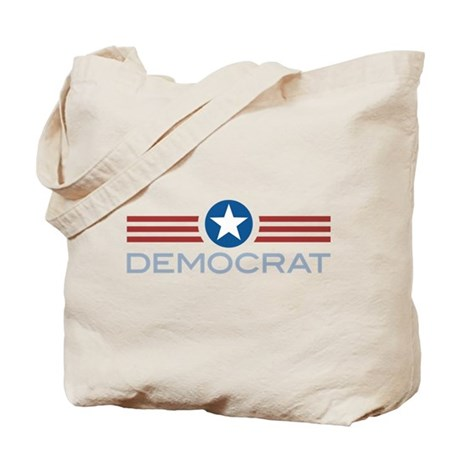 Star Stripes Democrat Tote Bag