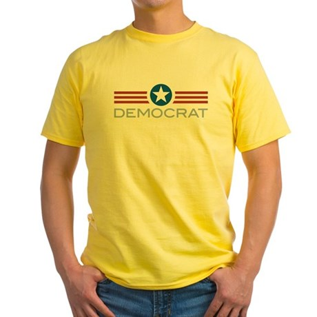 Star Stripes Democrat Yellow T-Shirt