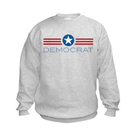 Star Stripes Democrat Kids Sweatshirt