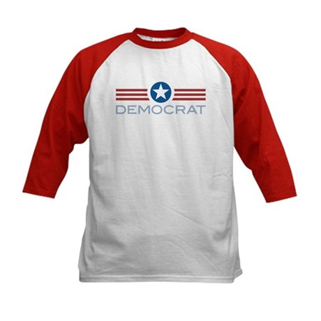 Star Stripes Democrat Kids Baseball Jersey