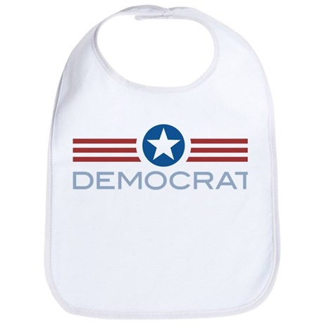 Star Stripes Democrat Bib