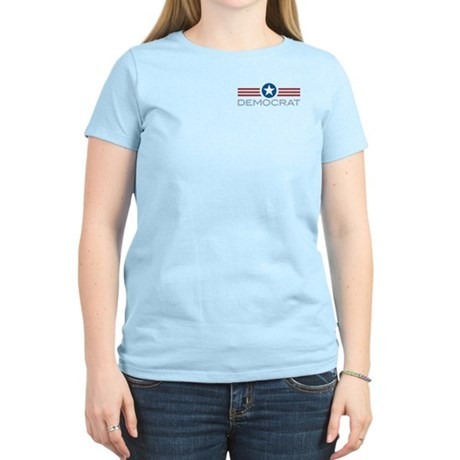 Star Stripes Democrat Women's Light T-Shirt