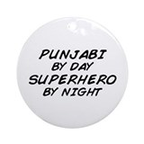 Punjabi Superhero by Night Ornament (Round)