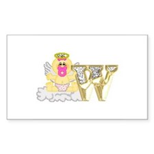 Baby Initials - W Rectangle Decal
