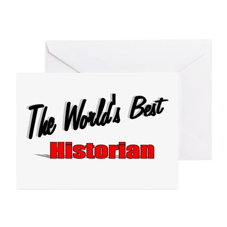 """The World's Best Historian"" Greeting Cards (Pk of"