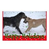 8 Irish Wolfhound Happy Holidays Postcards (S&