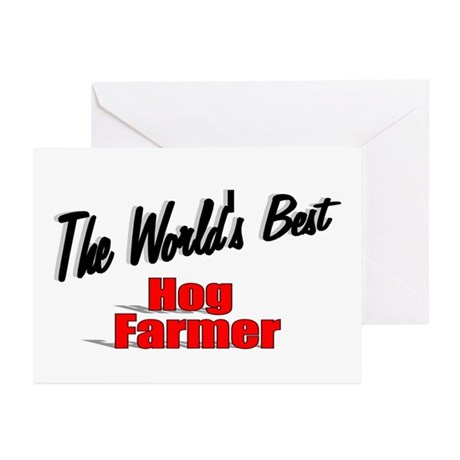 """The World's Best Hog Farmer"" Greeting Cards (Pk o"