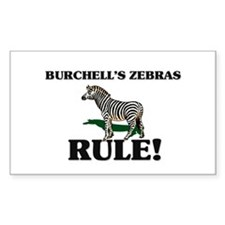Burchell's Zebras Rule! Rectangle Decal