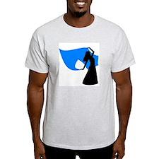 Sea Blue Veil Dancer Ash Grey T-Shirt
