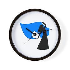 Sea Blue Veil Dancer Wall Clock