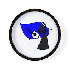 Blue Veil Dancer Wall Clock