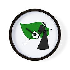 Green Veil Dancer Wall Clock