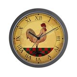 Country Rooster Clock