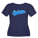 Retro Goleta (Blue) Women's Plus Size Scoop Neck D