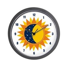 Sun Moon And Stars Wall Clock