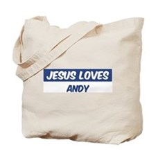 Jesus Loves Andy Tote Bag