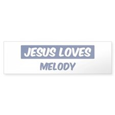 Jesus Loves Melody Bumper Bumper Sticker
