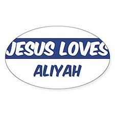 Jesus Loves Aliyah Oval Decal