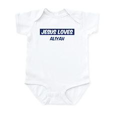 Jesus Loves Aliyah Infant Bodysuit