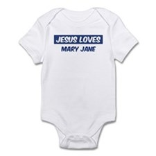 Jesus Loves Mary Jane Infant Bodysuit