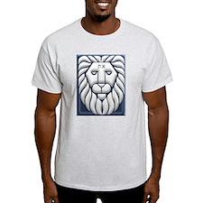 Aleph & Tav Lion Of Judah Ash Grey T-Shirt