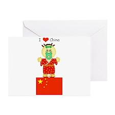 I Love China Greeting Cards (Pk of 10)