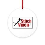 Stitch Vixen Ornament (Round)