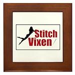 Stitch Vixen Framed Tile