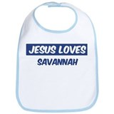 Jesus Loves Savannah Bib