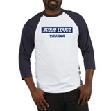 Jesus Loves Savana Baseball Jersey