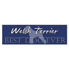 Best Dog Ever Welsh Terrier Bumper Bumper Sticker