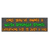 Just a Dog Welsh Springer Spaniel Bumper Bumper Sticker