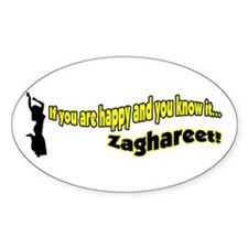 Happy Zahgareet! Oval Decal