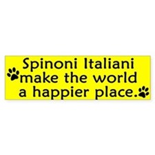 Happy Place Spinone Italiano Bumper Bumper Sticker