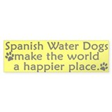 Happy Place Spanish Water Dog Bumper Bumper Sticker