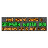 Just a Dog Spanish Water Dog Bumper Bumper Sticker