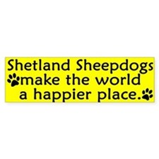 Happy Place Sheltie Bumper Bumper Sticker