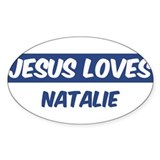 Jesus Loves Natalie Oval Decal