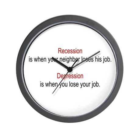 Recession - Depression Wall Clock