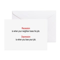 Recession - Depression Greeting Cards (Pk of 20)