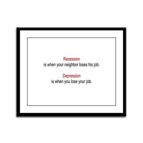 Recession - Depression Framed Panel Print
