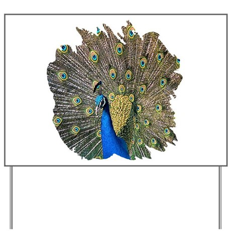 Peacock Yard Sign