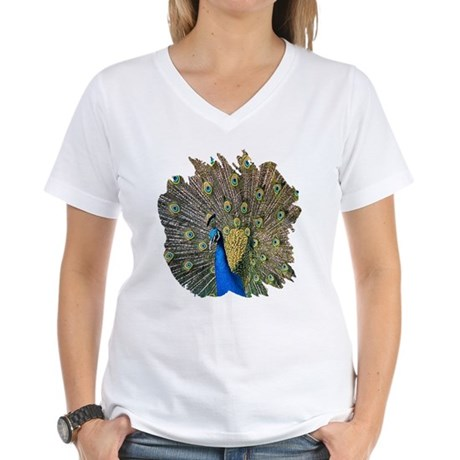 Peacock Women's V-Neck T-Shirt